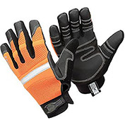 Ergodyne® ProFlex® Hi-Vis General Purpose Work Gloves, Orange, Large