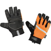 Ergodyne® 876WP Hi-Vis Thermal Waterproof Work Gloves, Orange, Large, 1 Pair