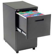 2 Drawer Pedestal File Cabinet, Black