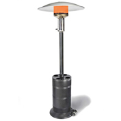 SunStar Patio Propane Heater, 40000 BTU, Black/Silver