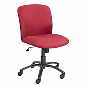 "SAFCO Big and Tall Chair - Mid-Back - 18-1/2–22-1/2"" Seat Height - Fabric - Burgundy"