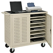 Mobile Storage & Charging Cart, 24 Laptop & Chromebook™ Device Capacity, Putty