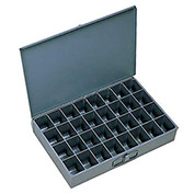 "DURHAM Compartment Box - 18x12x3"" - (32) Compartments - With Fixed Dividers - Pkg Qty 4"