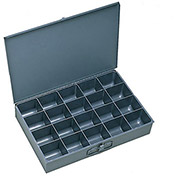 "DURHAM Compartment Box - 18x12x3"" - (20) Compartments - With Fixed Dividers - Pkg Qty 4"
