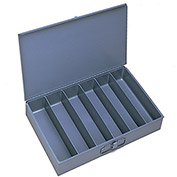 "DURHAM Compartment Box - 18x12x3"" - (6) Vertical Compartments - With Fixed Dividers - Pkg Qty 4"