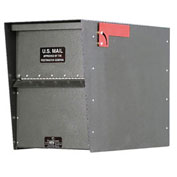 Jayco Standard Rear Access Heavy Duty Letter Locker Mailbox, Gray