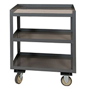 "Portable Shop Desk, 3 Shelves, 24""W x 30""D x 36""H, Gray"