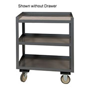 "Portable Shop Desk w/ Drawer, 3 Shelves, 24""W x 30""D x 36""H, Gray"