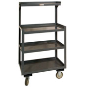 "Portable Shop Desk, 4 Shelves, 24""W x 20""D x 54""H, Gray"