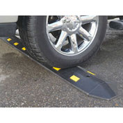 "IronGuard 268783C Speed Bump Recycled Rubber Concrete Installation 36""L x 10-1/2""W x 2""H"