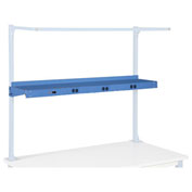 "Pre-Wired Electric Shelf, 48""W, Blue"