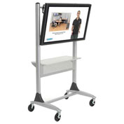 Balt® Platinum Series Large LCD/Plasma Monitor Cart Two-post  with Shelf