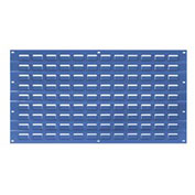 Louvered Wall Panel, Blue, 18x19 - Pkg Qty 4