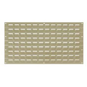 Louvered Wall Panel, Tan, 18x19 - Pkg Qty 4
