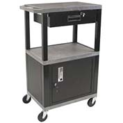 H. Wilson Tuffy Garage & Shop Utility Cart with Cabinet & Drawer - Gray
