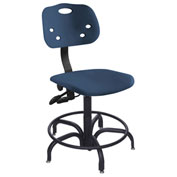 """Multishift 24/7 Antimicrobial Stool, 15-20H"""" Adjustable Seat, Blue"""