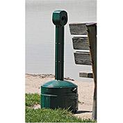 "JUSTRITE Cease-Fire Poly Butt Can - 11"" Dia.x30""H - 1-Gallon Capacity - Forest green"