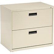 "30""W Lateral File Cabinet, 2 Drawer, Putty"