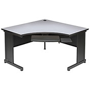 "48""W Corner Desk - Gray Finish Top"