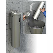 Commercial Zone Smokers Outpost Wall Mounted Ashtray Locking, Swivel Mount, Silver