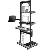 "Computer Multi-purpose Stand, Black, 32""Wx27""Dx85""H"