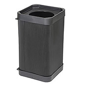 Square Plastic Trash Receptacle - 38 Gallon