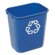 Rubbermaid® Deskside Paper Recycling Container, 13-5/8 Qt, Blue