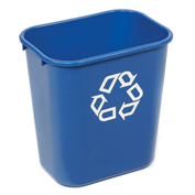 Rubbermaid® Deskside Paper Recycling Container, 28-1/8 Qt, Blue
