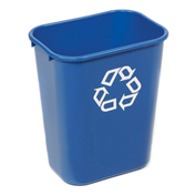 Rubbermaid® Deskside Paper Recycling Container, 41-1/4 Qt, Blue