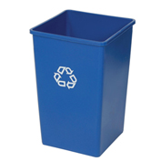 Rubbermaid® Square Recycling Container, 50 Gallon, Blue