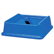 Rubbermaid® Square Paper Slot Recycling Lid, Blue