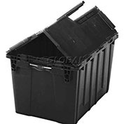 ORBIS Flipak Distribution Container, 26-7/8 x 17 x 12-5/8, Recycled Black - Pkg Qty 3