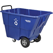 Recycling Tilt Truck, Blue, 1/2 Cubic Yard Capacity