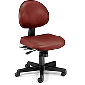 """OFM Continuous-Use Seating - Chair - 18-22"""" Seat Height - Wine vinyl"""