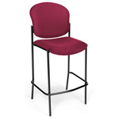 Fabric Upholstered Café Height Chair - Wine - Pkg Qty 2