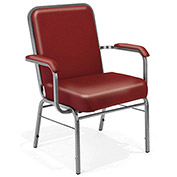 "OFM 500-Lb. Capacity Stack Chair - 29x24x35-1/2"" - Anti-bacterial, Anti-Microbial Vinyl Upholstery -"