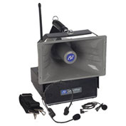 Wireless Half-Miler Hailer Amplifier with Lapel & Headset Mic