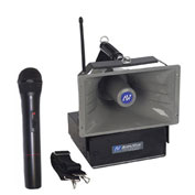 Wireless Half-Mile Hailer Amplifier with Handheld Mic