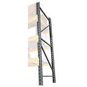 "Husky Double Slotted Pallet Rack Upright Frame, Steel, 192""H x 42""D"