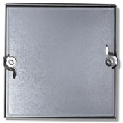 Duct Access Door w/No Hinge, Galvanized Steel, 8x8