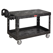 Rubbermaid® Flat Shelf Plastic Service & Utility Cart 54 x 25