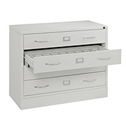 "37""W Media Cabinet, 4 Drawer, Putty"