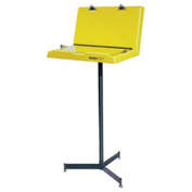 "Hubbell Document Stand with Two Panels, 26""W x 20""D x 61""H, Yellow & Black"