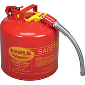 "EAGLE Type II Safety Can - 12-1/2"" Dia.x13-3/4""H - 5-Gallon Capacity"