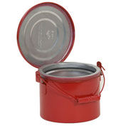 Eagle B-604 Bench Can, Metal, Red, 4 qt.
