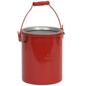 Eagle B-606 Bench Can, Metal, Red, 6 qt.