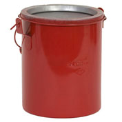 Eagle B-606NL Bench Can without lid, Metal, Red, 6 qt.