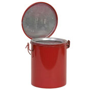Eagle B-608 Bench Can, Metal, Red, 8 qt.