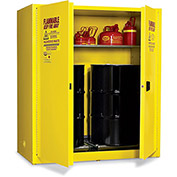 "EAGLE Vertical Drum Cabinet For Flammable Hazardous Waste - 58x31x65"" - 2 Drums - Manual-Close Doors"