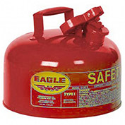 "EAGLE Type I Safety Can -11-1/4"" Dia.x19-1/2""H - 2-Gallon Capacity - For Flammables"